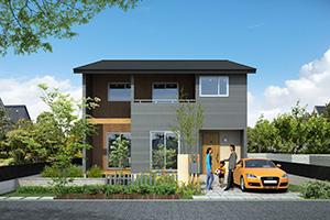 羽村市の注文住宅の外観デザイン「Natural」