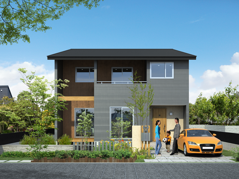 外観 青梅でデザインがおしゃれな家を建てるならココスム
